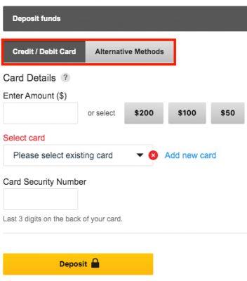Guide Betfair Exchange Setting Deposit Methods